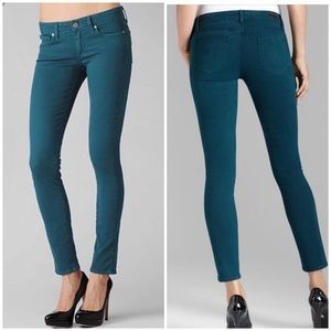 PAIGE Horton Ultra Skinny Peacock Teal Jeans 28